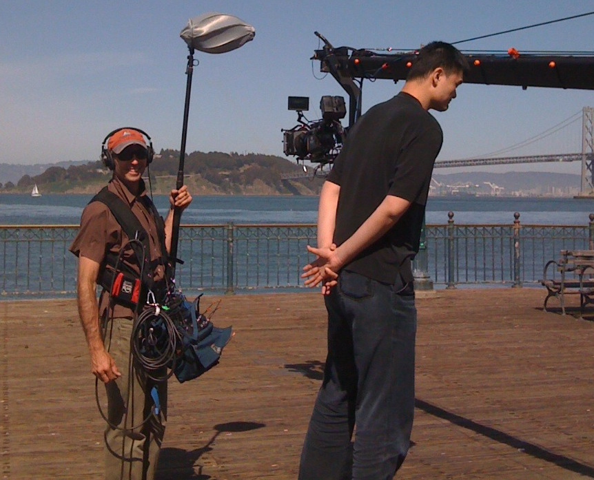 2011 - on set with Yao Ming and Studio B Films